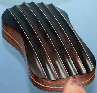Fluted-back Dias vihuela with African blackwood (grenadilla) back ribs