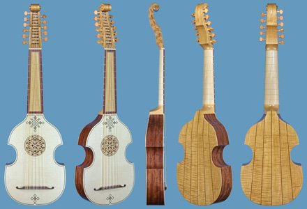 viola da mano fully-decorated with inlays dai libri model